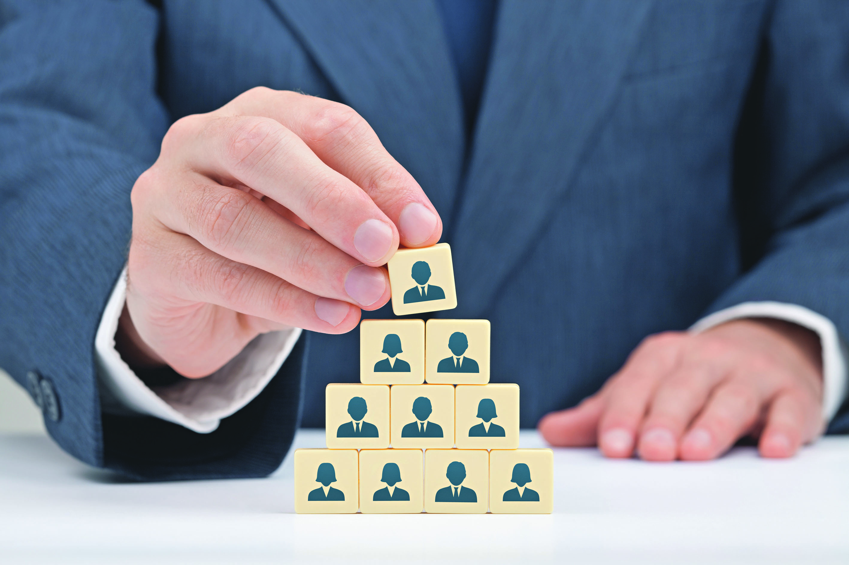 http://www.dreamstime.com/royalty-free-stock-photo-human-resources-ceo-corporate-hierarchy-concept-recruiter-complete-team-one-leader-person-represented-icon-image31043665