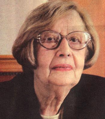 """Η κ. Μαρία Χουλάκη, πρώην πρόεδρος του Συλλόγου """"Ηλιαχτίδα"""""""