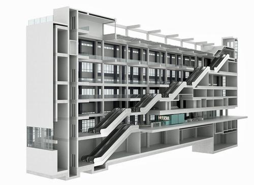 Το εσωτερικό του κτιρίου σε μακέτα ΕΜΣΤ / 3ΣΚ Στυλιανίδης Αρχιτέκτονες