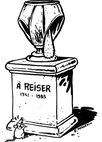Σκίτσο του Frank Margerin μετά τον θάνατο του Reiser