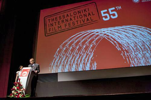 Ο Δημήτρης Εϊπίδης, διευθυντής  του Φεστιβάλ, κατά την έναρξη του ΒΕΡΒΕΡΙΔΗΣ ΒΑΣΙΛΗΣ
